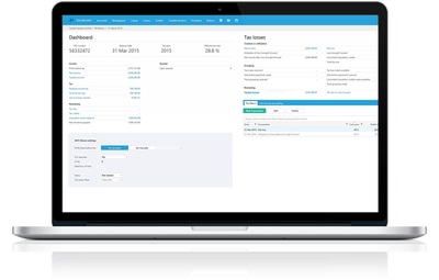 Tax Software Screenshot on Laptop